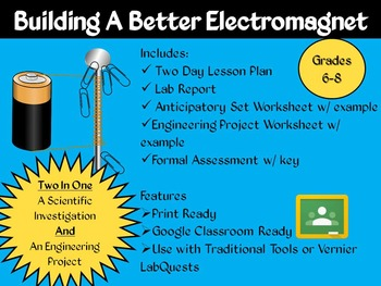 Electromagnets Inquiry Lab (NGSS MS-PS2-3)