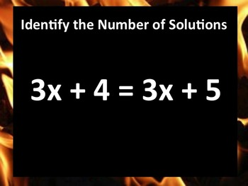 Hot Seat Activity -- Number of Solutions for a One Variable Equation