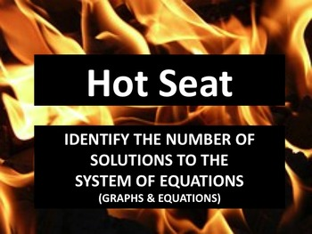Hot Seat -- Number of Solutions of a System of Equations (