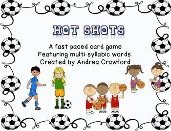 Hot Shots Multi-syllabic words Card Game
