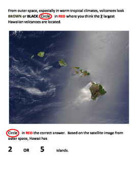 Hot Spot Volcanoes (Hawaii):  Differentiated Questions