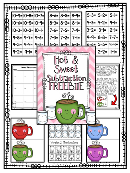 Hot & Sweet Subtraction FREEBIE