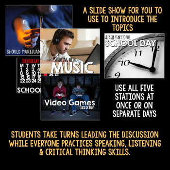 Hot Topic Discussion Stations for Secondary English