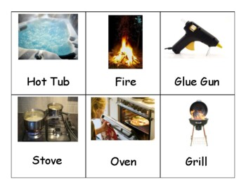 Hot Vs. Cold sorting activity