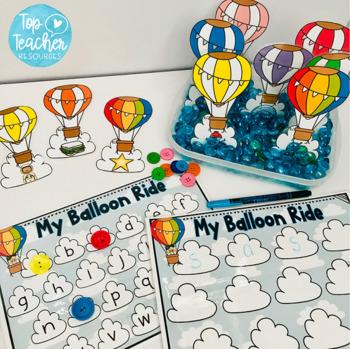 Hot air balloon ride - alphabet
