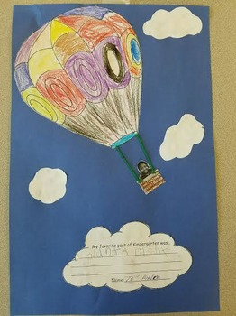 Hot air balloon soaring into 1st grade