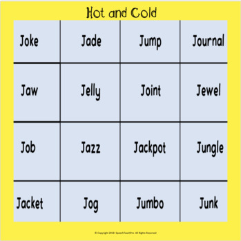 Articulation Game: Hot and Cold for R,S,Z,SH,CH,J,TH