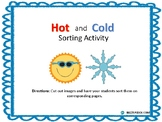 Hot and Cold Sorting Activity