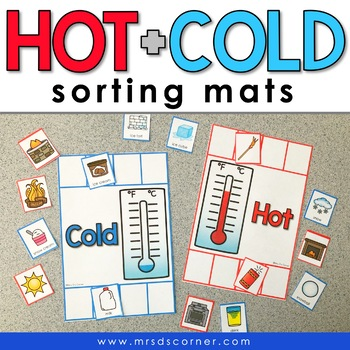 Hot and Cold Sorting Mats [2 mats included] | Hold and Cold Activity