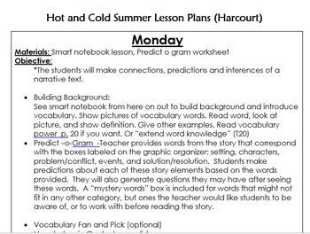 Hot and Cold Summer Lesson Plans