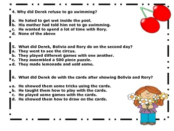 Hot and Cold Summer by Johanna Hurwitz - Reading Comprehension Quiz