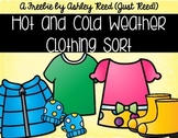 Hot and Cold Weather Clothing Sort FREEBIE