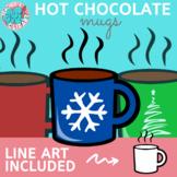 Hot chocolate MUGS clipart