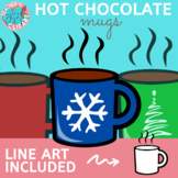 Hot chocolate MUGS clipart