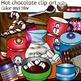 Hot chocolate clip art -Color and B&W- 59 items!