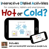 Hot or Cold ⋅ Digital PDF ⋅ Interactive Activities for Spe