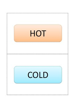 Hot or Cold - Matching Activity