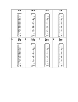Hot or Cold?  Reading a Thermometer