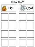 Hot or Cold Sorting Interactive Board