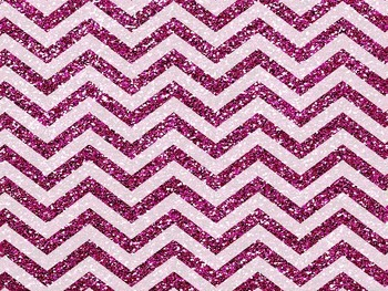 Hot pink chevron glitter powerpoint template