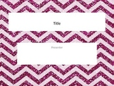 Hot pink chevron glitter powerpoint template