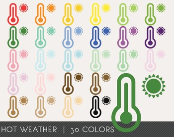 Hot weather Digital Clipart, Hot weather Graphics, Hot weather PNG