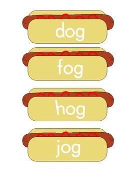 Hotdog Short Vowel O Word Sort