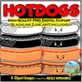 Hotdogs (Kawaii Hotdogs) Clip Art for Personal and Commercial Use