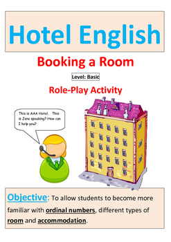 Hotel English:Role Play for Booking a Hotel Room