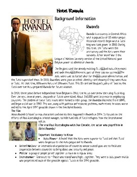 Hotel Rwanda Discussion Questions