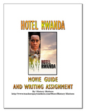 Hotel Rwanda - Movie Guide and Writing Assignment with Key (Rwanda Genocide)