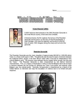 Hotel Rwanda - Movie Guide and Writing Assignment with Key (Rwanda Genocide)