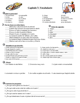Hotel Vocabulary Practice (Asi Se Dice Chapter 7, level 2)