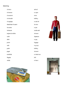 Hotel Vocabulary Practice and Project