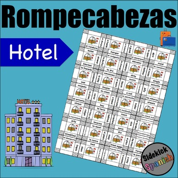 Hotel Vocabulary Puzzles in Spanish