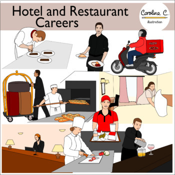 Hotel and Restaurant Careers Clip Art