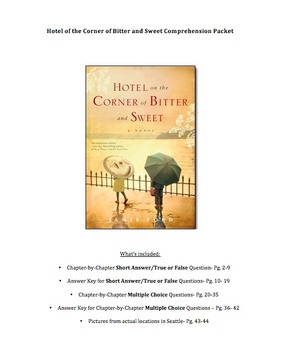 Hotel on the Corner of Bitter and Sweet, Novel Questions, Final Test, Answer Key