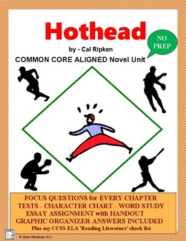 HOTHEAD Novel Study Complete and CCSS Aligned