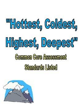 Hottest, Coldest, Deepest, Tallest Assessment Reading Street Third Grade