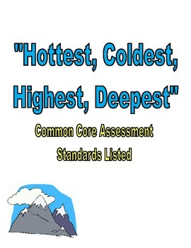 Hottest, Coldest, Deepest, Tallest Assessment Reading Stre