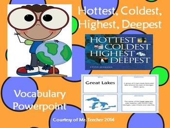 """Hottest, Coldest, Highest, Deepest"" Vocabulary PPT"