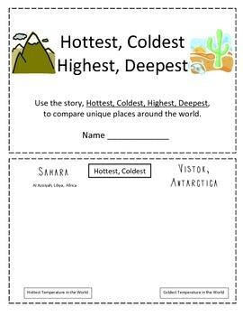 Hottest, Coldest, Highest, Deepest Comparison Booklet