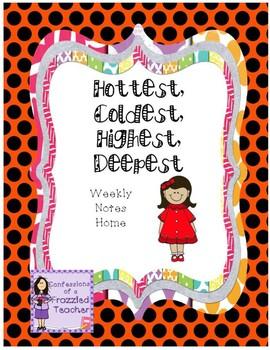 Hottest, Coldest, Highest, Deepest Letters (Scott Foresman Reading Street)