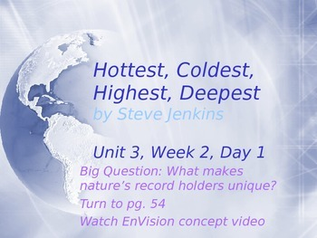 Hottest, Coldest, Highest, Deepest PowerPoint Reading Street 3.4.2