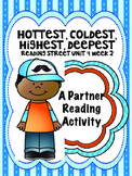Hottest, Coldest, Highest, Deepest Reading Street 3rd grade Unit4 centers groups