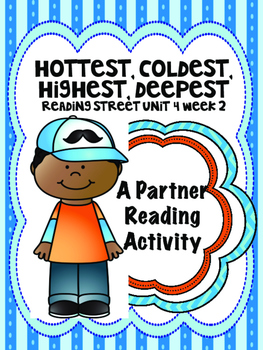 Hottest, Coldest, Highest, Deepest Reading Street 3rd grade Unit4 centers groups