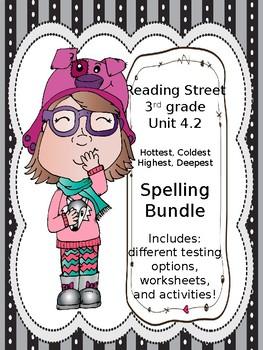 Hottest, Coldest, Highest, Deepest Spelling bundle Reading Street 3rd grade