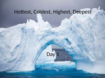 Hottest Coldest Highest Deepest power point and interactive notebook