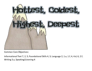 Hottest, Coldest Reading Focus Wall