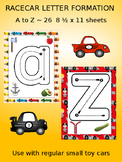 Racecar letter tracing set